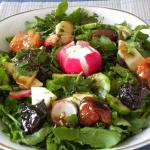 Rocket & Peppers Salad with Feta and Mandarin Vinaigrette