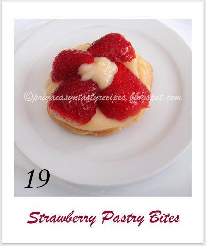 Strawberry pastry bites, by Priya