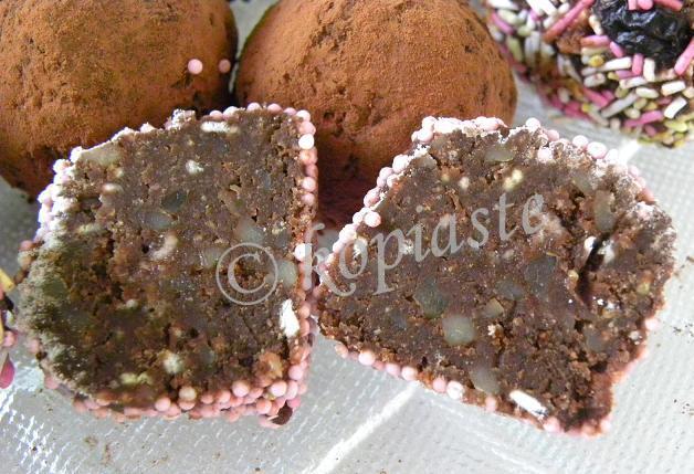 Truffles cut marked