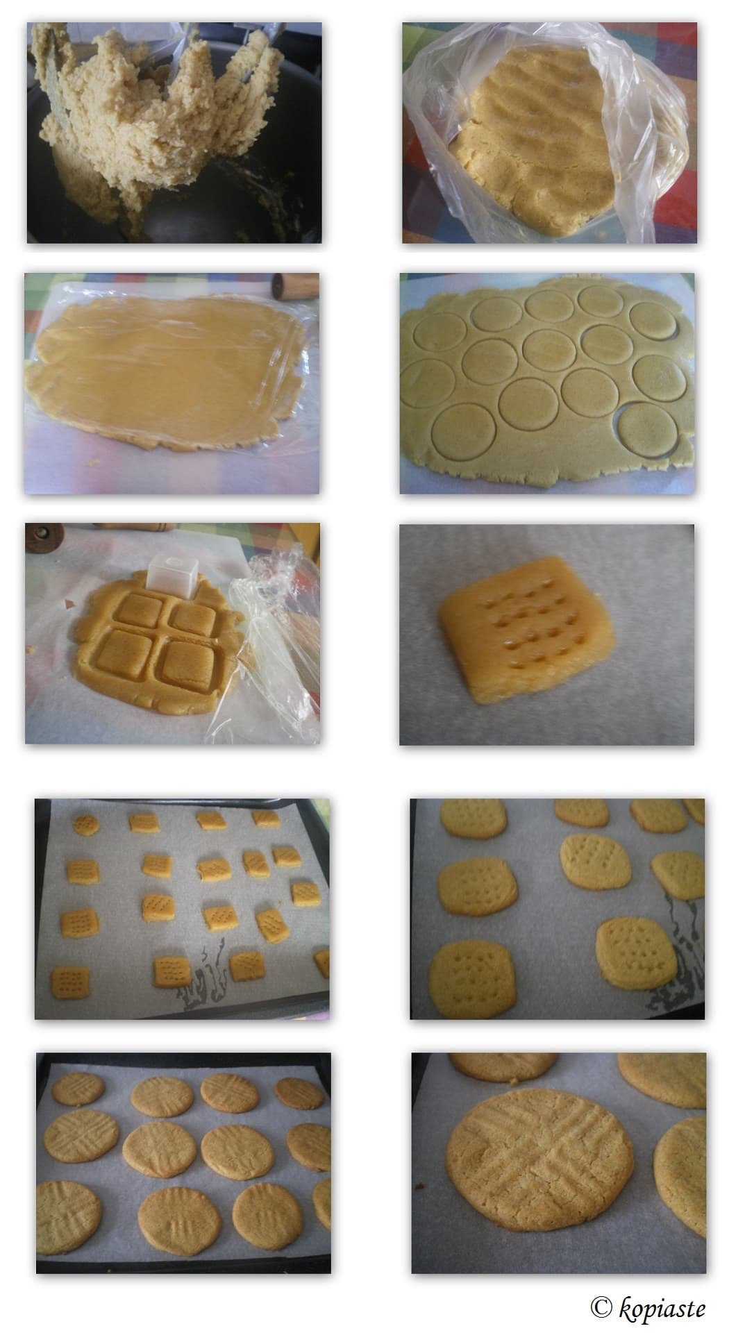 Collage Peanut Butter Cookies