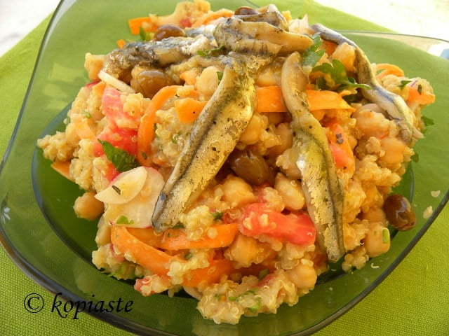 Chickpea Quinoa Salad with Anchovies2
