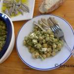 Ρεβιθοσαλάτα με Πλιγούρι, Φέτα και Πέστο