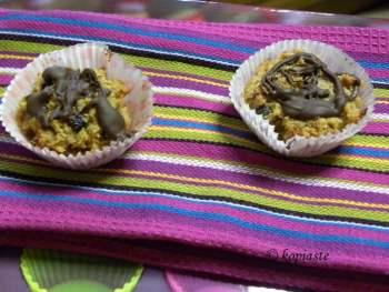 Peanut butter cream cheese coconut muffins