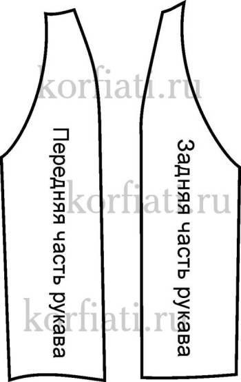 Выкройка платья с рукавом реглан - детали кроя рукава