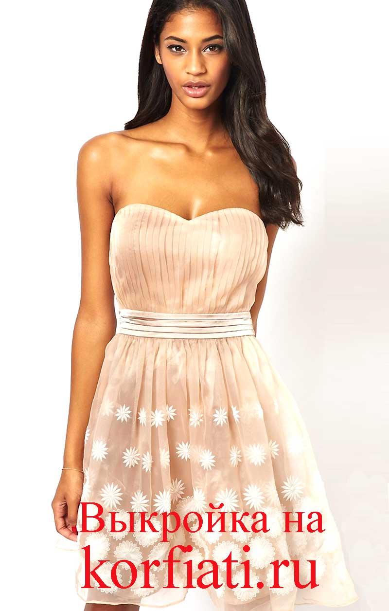 Платье с декольте: выкройка как сшить просто и быстро