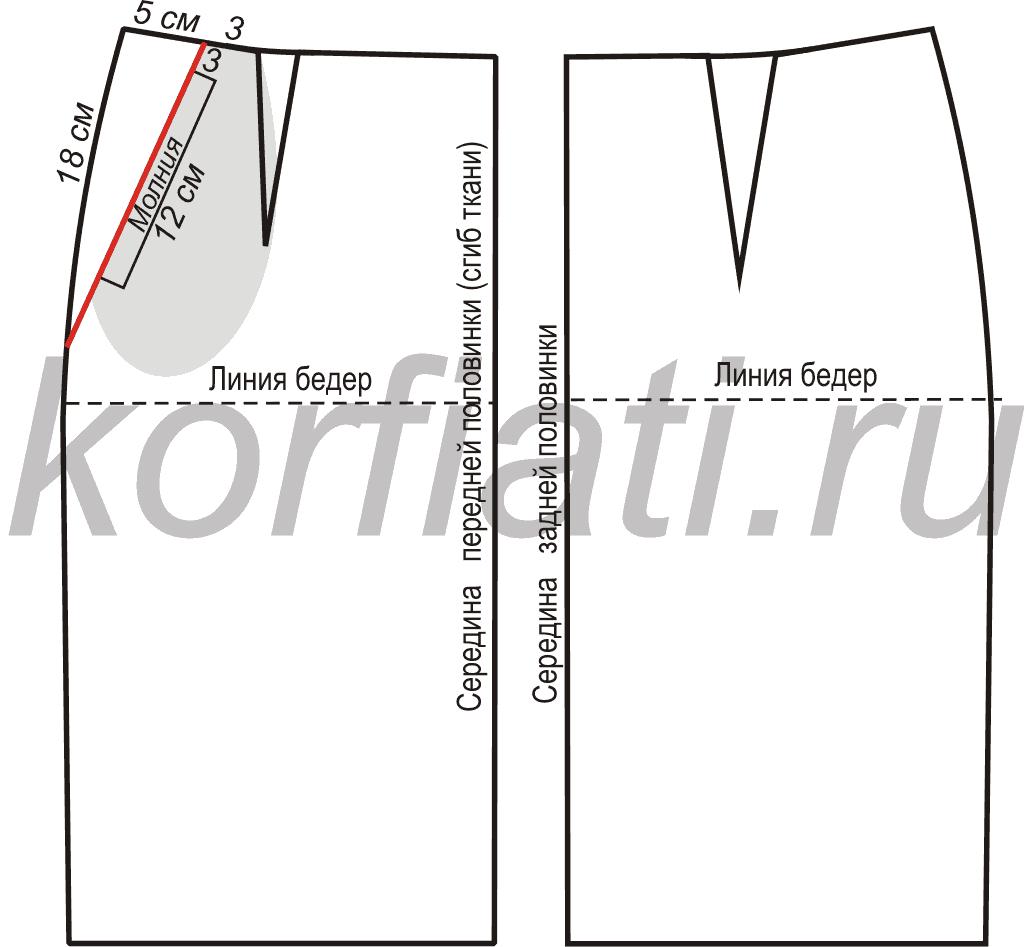 Фасон и выкройка юбки в клетку