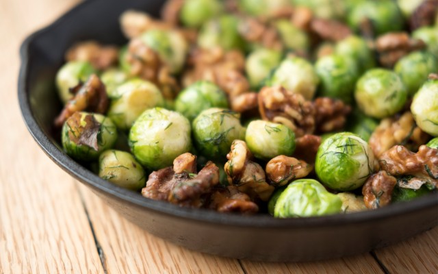 Brussels Sprouts with Walnuts & Dill