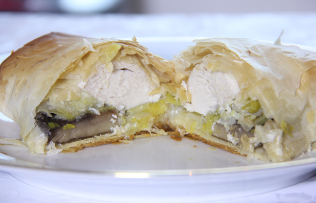 Breast of Chicken Wrapped in Phyllo Dough