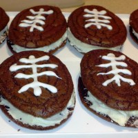 Football Brownie Sandwiches