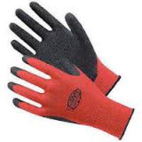 サマーゲレンデでこのようなゴム付き手袋は怪我の元。