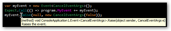 Strongly typed Rhino.Mocks Event invocation