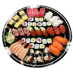 D-Nigiri Set (45pcs) - Nigiri: Ahi, Ika, Egg, Negitoro, Ikura, Masago, Ebi, Unagi & Salmon Hoso Maki: Tekka, Cucumber & Shinko Maki