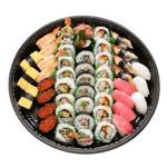 Kahala Special Plate (46pcs) -   Makimono: California Maki with Masago, BLT Maki & Tempura Maki Nigiri: Ahi, Ebi, Ikura, Egg, Unagi & Ika
