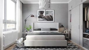 block-bed-grey-and-white-bedding