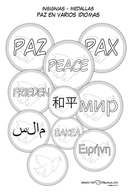 medallas-insignias-paz-dibujalia