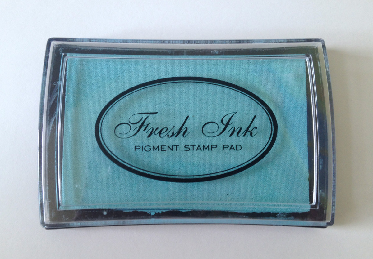 """Fresh Ink"" pigment stamp pad ""Island"" color from Impress"