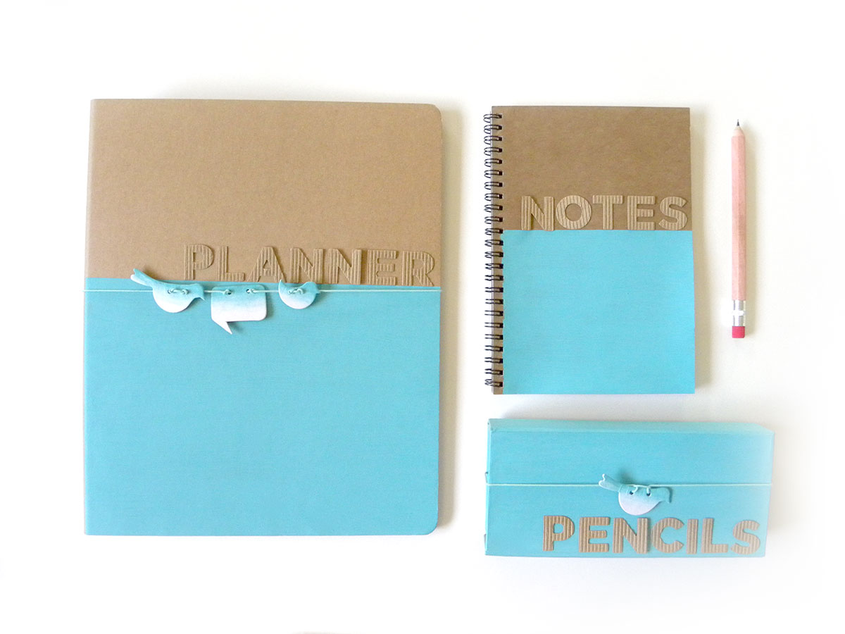 Folder Binder Color block DIY