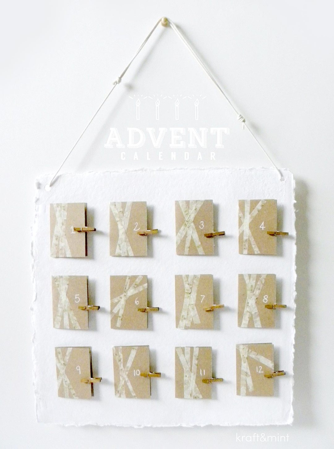 Advent Calendar Made Easy kraft&mint