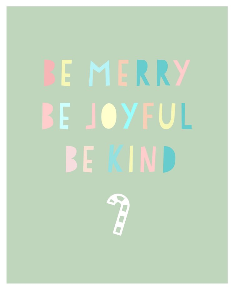 Be Merry kraft&mint printable for personal use only