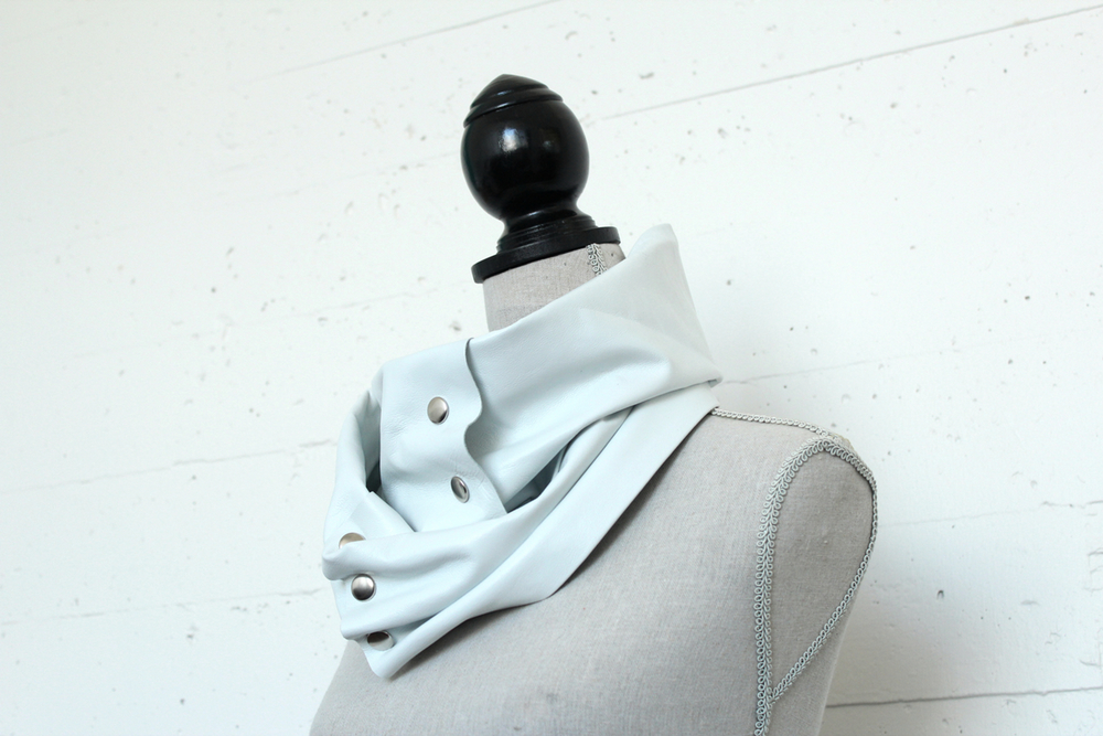 Accessories: DIY Leather Scarf