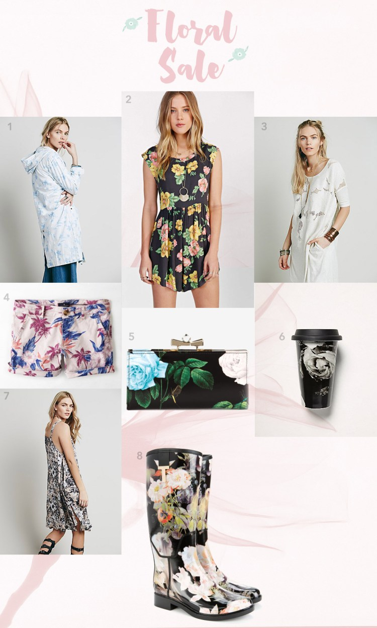 Floral fashion items for sale curated by kraft&mint