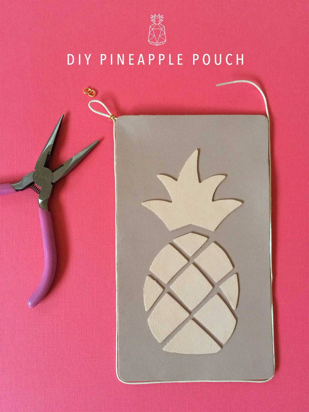 DIY Pineapple Pouch - Part 2 kraft&mint tutorial