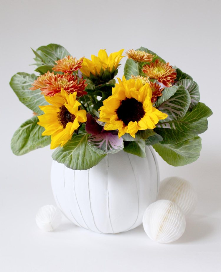 Make a leather pumpkin vase this Fall