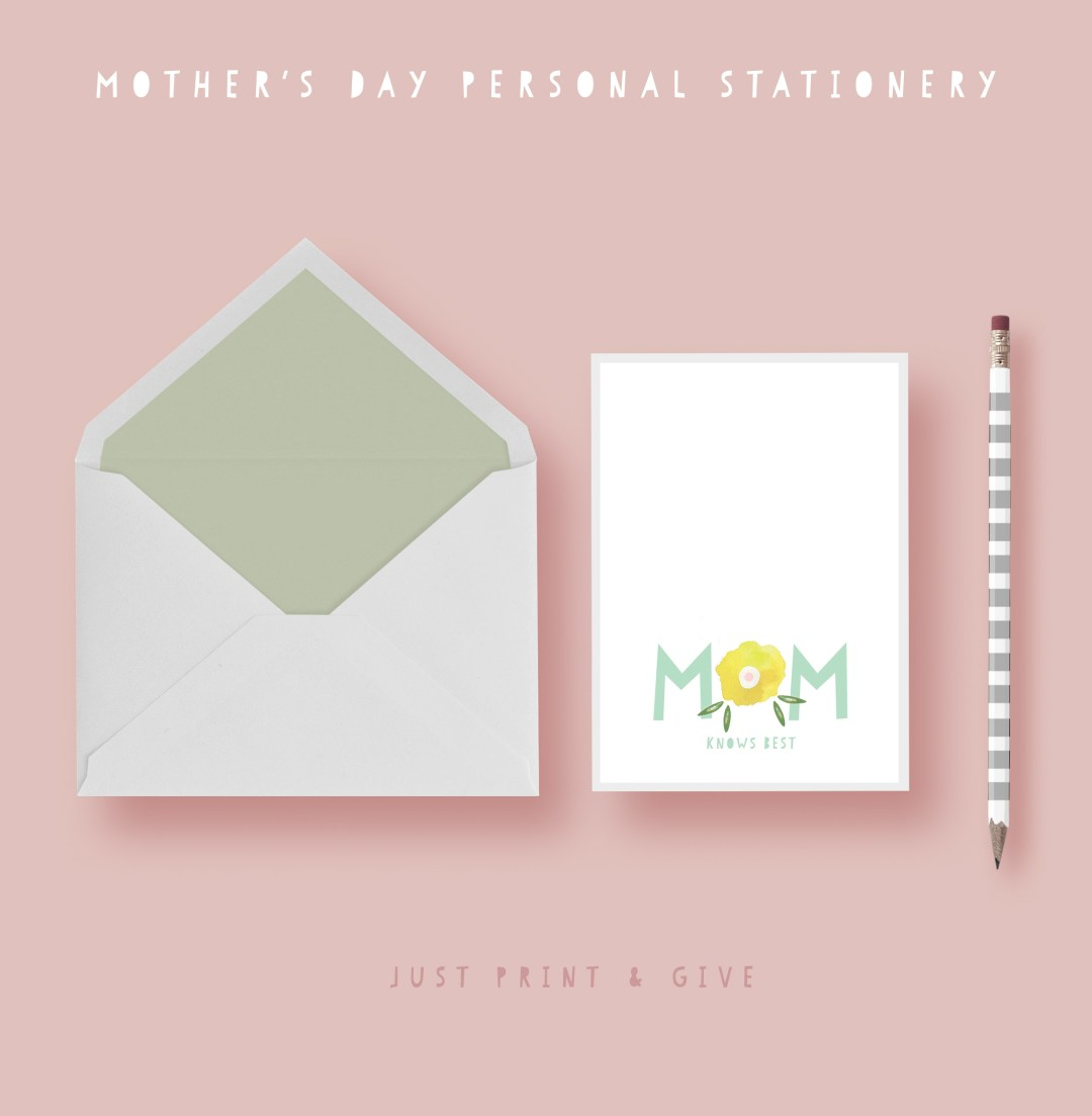 Give mom a special stationery set kraft&mint