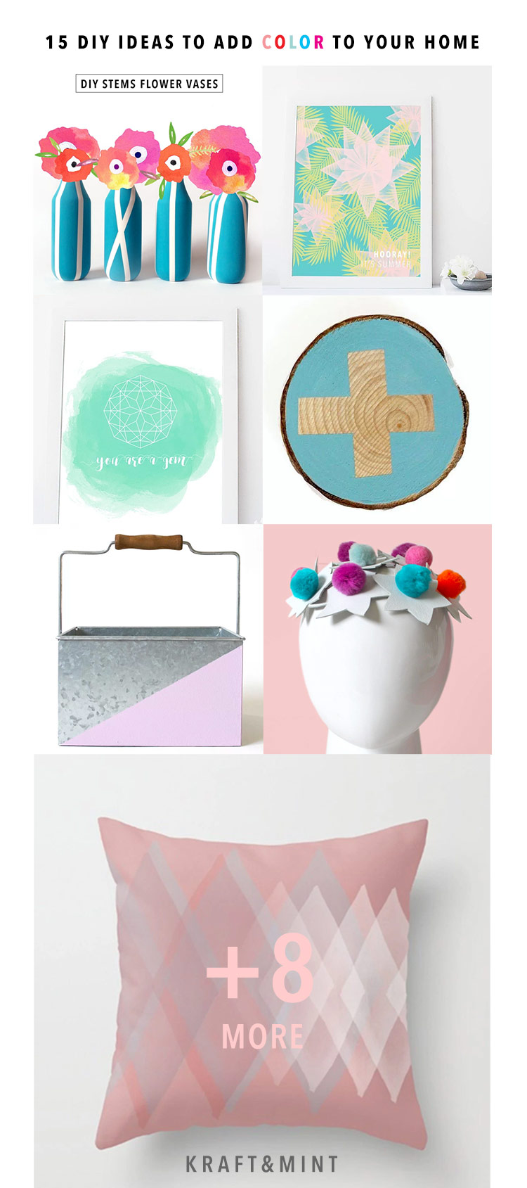 15 DIY ideas to add color to your home kraft&mint