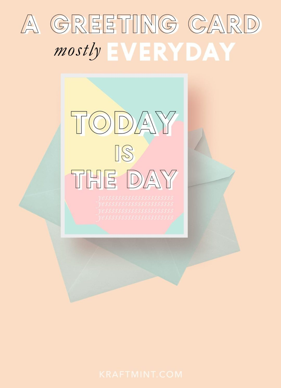 A Greeting Card Printable Card New Series on kraft&mint - available for download on the day when the blog post goes live for 24 hours - Come the next day for a new card and a new download (for personal use only)