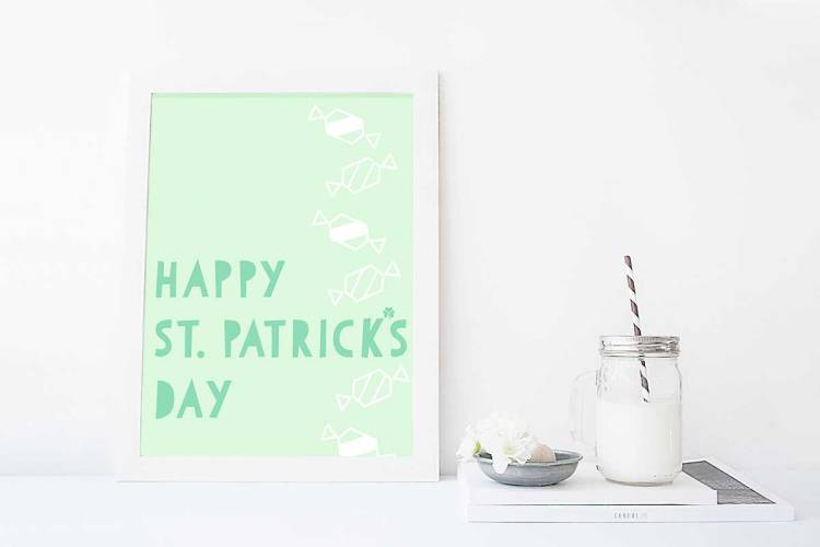St Patricks Day Printable for Subscribers to kraft&mint newsletter