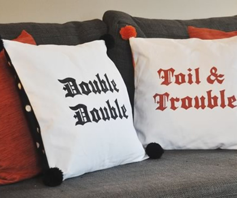 Double Trouble Halloween Pillows