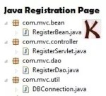 Java Registration Page using Servlet MySQL MVC