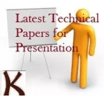 Latest Technical Paper Presentation Topics