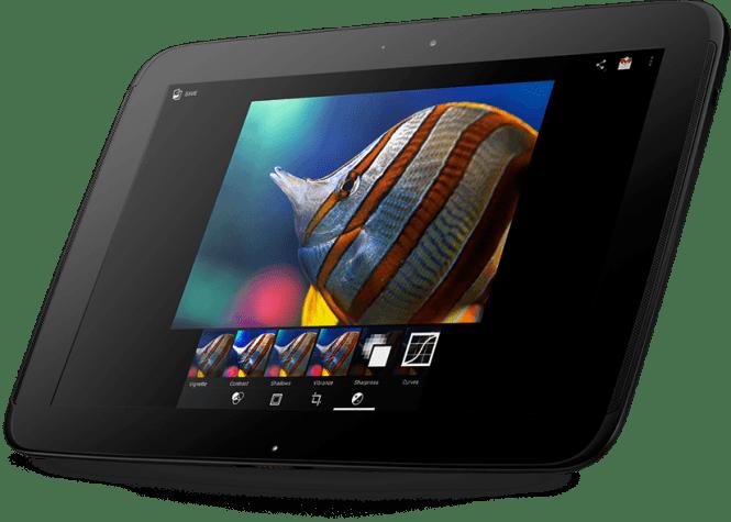Samsung Google NEXUS 10 front view