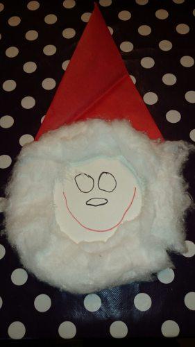 Julemand af paptallerken