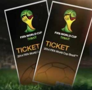 ticket to brazil 2014 football world cup