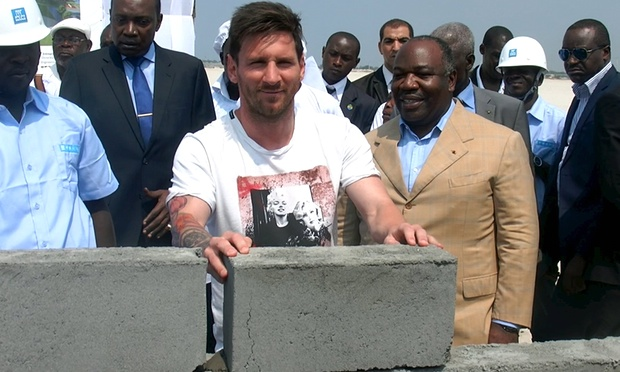 Lionel Messi for meeting Gabonese