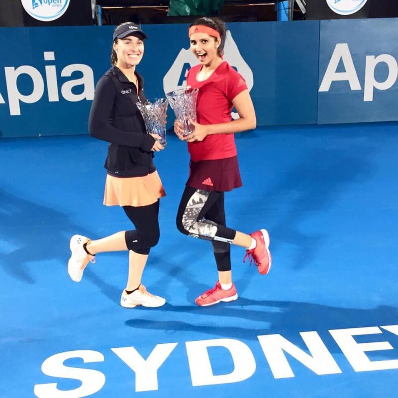 Sania and Martina Win