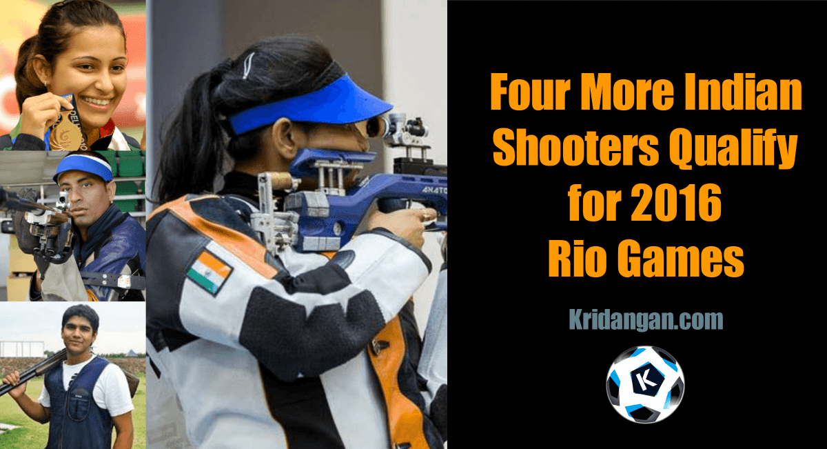 Four More Indian Shooters Qualify for 2016 Rio Games after Delhi Qualifying Tournament