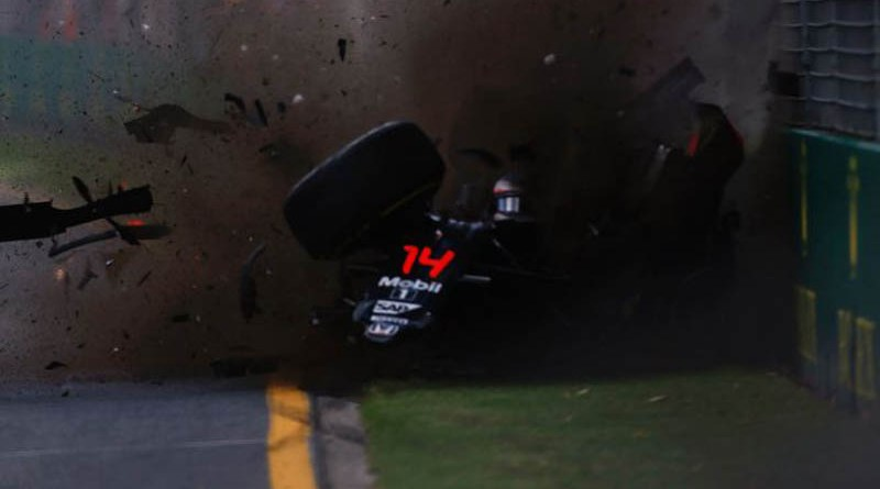 crash at Australian GP