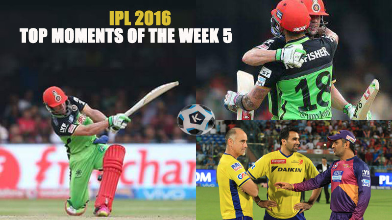 IPL 2016 - Top Moments of the week 5