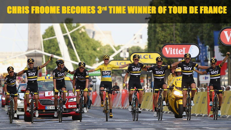 Great Britain's Chris Froome Becomes Third-Time Winner of Tour de France
