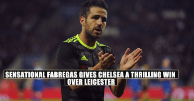 Sensational Fabregas gives Chelsea a thrilling win over Leicester