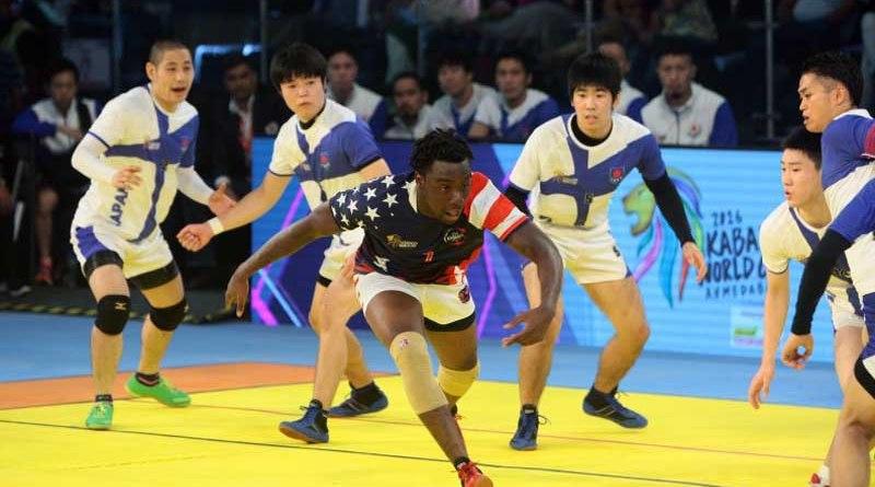 2016 Kabaddi Japan hammer USA 45-19
