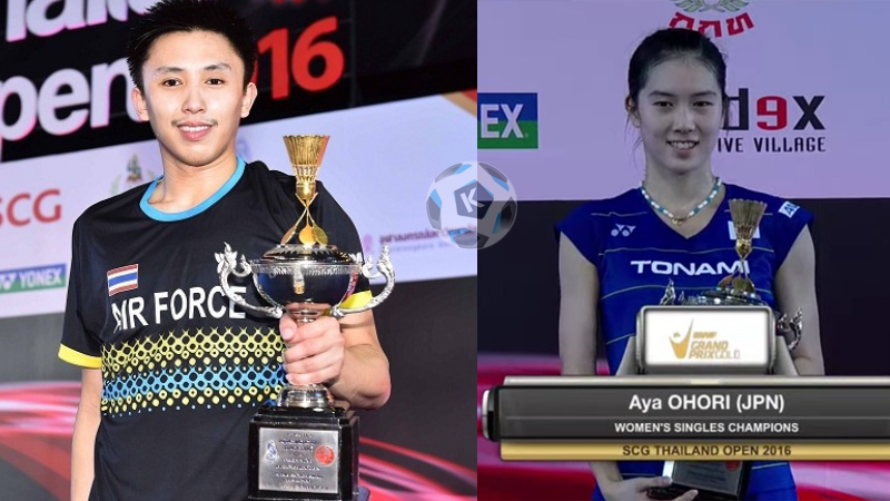 Thailand Open 2016: Aya Ohori of Japan wins women's & Tanongsak of Thai wins men's finals