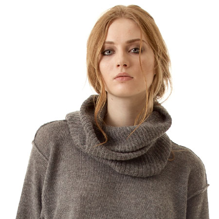 ISABELLE GREY OVERSIZED SWEATER