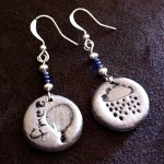 Clay pendant earrings
