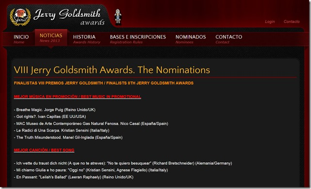 goldsmith2013 nominees