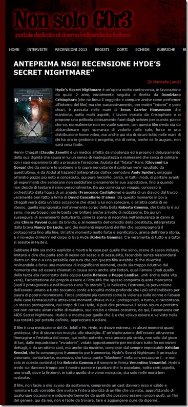 NSG Recensione Hyde's Secret Nightmare